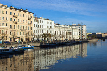 St. Petersburg, Russia. Fontanka River Embankment.