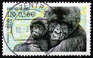 Postage stamp Germany 2001 Mountain Gorilla