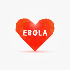 Ebola virus in poly heart