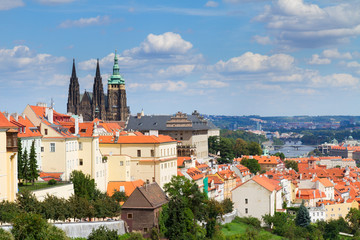 view of  of Prague from Hradcany district
