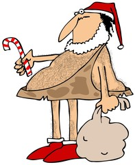 Caveman Santa
