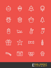 Christmas Icon Set | Pixel Perfect Icon Set