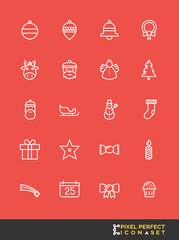 Christmas Icon Set | Pixel Perfect Icon Set