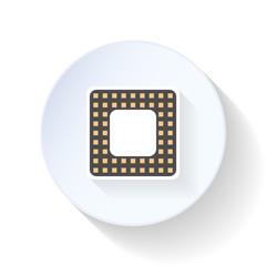 Computer processor flat icon
