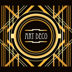 Art Deco style abstract geometric frame