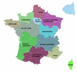 """12 régions 2014 """"5 calques propres"""""""