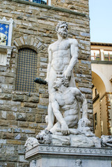 Statua Ercole e Caco, monumento, Firenze
