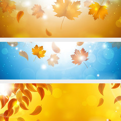 Abstract Autumn Banners