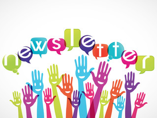 groupe mains souriantes : newsletter