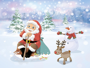 Santa Claus in the forest
