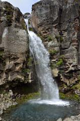 Taranaki waterfall, New Zealand
