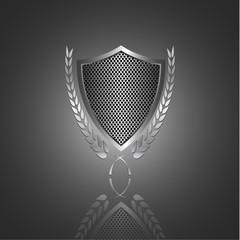 Shield  with laurel wreath,vector