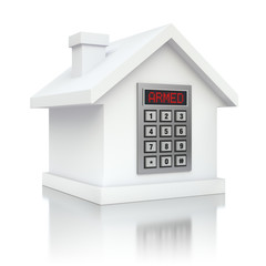 Armed house security alarm