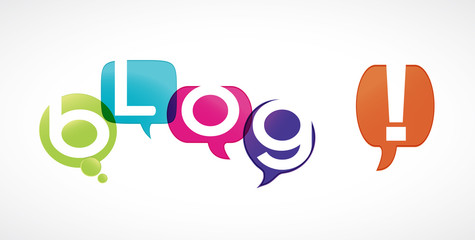 bulles de lettres : blog !
