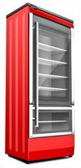 Getränkekühlschrank, rot, freigestellt