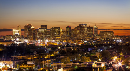 Aerial View of Boston in Massachusetts, USA