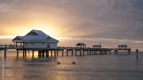 Foto op Aluminium Stad aan het water Clearwater Beach at Sunset in Florida, USA