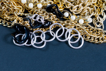 Fake jewellery and chains