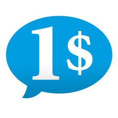 Etiqueta tipo app azul comentario 1$