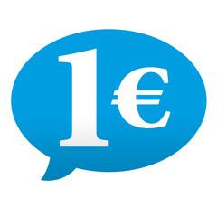 Etiqueta tipo app azul comentario 1€