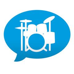 Etiqueta tipo app azul comentario simbolo bateria