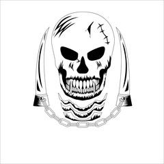 Decorative design Vector skull devil logo
