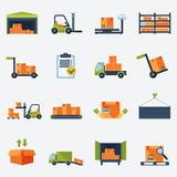 Warehouse Icons Flat - 70358079