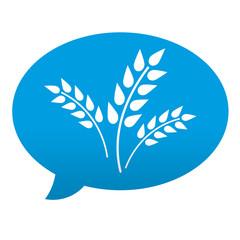 Etiqueta tipo app azul comentario simbolo cereal
