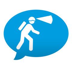 Etiqueta tipo app azul comentario simbolo espeleologia