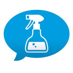 Etiqueta tipo app azul comentario simbolo limpieza