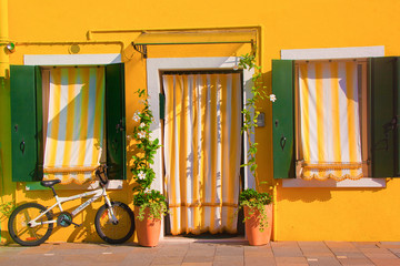 Colorful Burano, near Venice, Italy