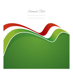 Hungary abstract flag ribbon vector