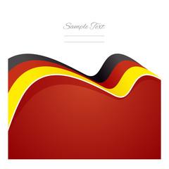 Germany abstract flag ribbon vector