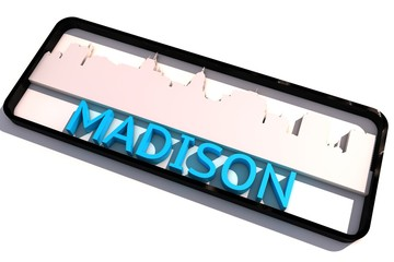 Madison USA base colors of the flag of the city 3D design