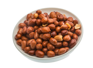 Fried peanuts heap