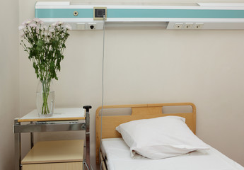 Bed in a hospital