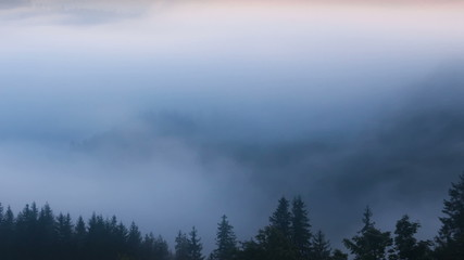 foggy mountain landscape. nature. 1920x1080. fog clouds.