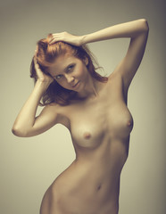 Beautiful girl posing naked