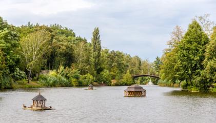 Pond in Mezhyhirya, the residence of Yanukovych