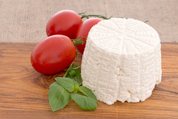 Artisan ricotta cheese, just out of mould, mold. Really fresh!