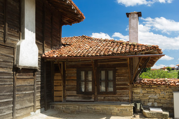 old wooden building in Bulgaria