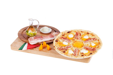 Italian pizza with ham