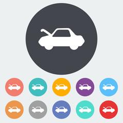 Car flat icon.