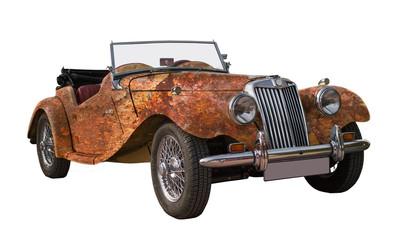 alter rostiger oldtimer, classic car