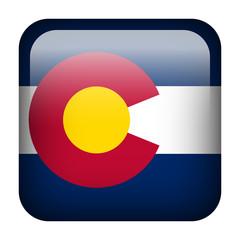 Square flag button - Colorado