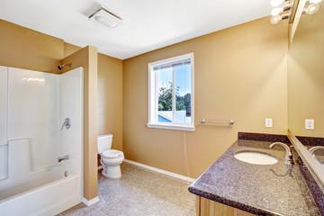 Bathroom interior in empty house