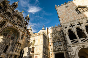Details of St. Marks Cathedral  in Venice, Italy