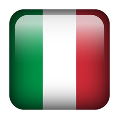 Italy square flag button
