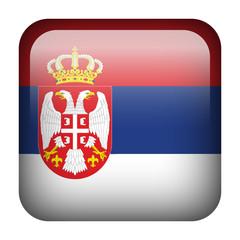 Serbia square flag button