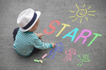 Kinderzeichnung - Start